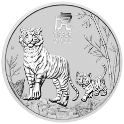 2022 Lunar Year of the Tiger Silver Coins