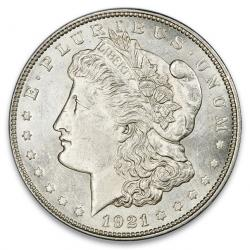 Uncertified 1921 Morgan Silver Dollars