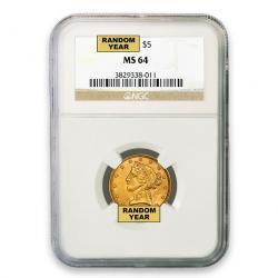 NGC $5 Liberty Half Eagle