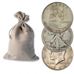 Bags of 90% Silver Half Dollars