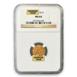 NGC $2.50 Indian Quarter Eagles