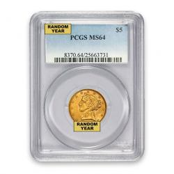 PCGS $5 Liberty Half Eagles