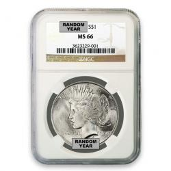 NGC Peace Silver Dollar