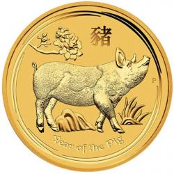 2019 Lunar Year of the Pig Gold Coins