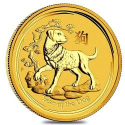 2018 Lunar Year of the Dog Gold Coins