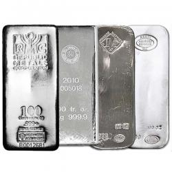Secondary Market Silver Bars (1 Oz - 100 Oz)