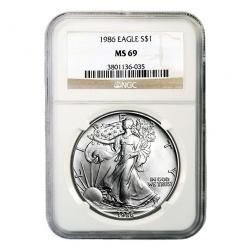 Graded BU Silver Eagles
