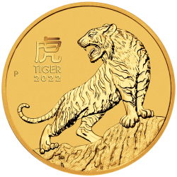 2022 Lunar Year of the Tiger Gold Coins