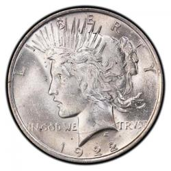 Uncertified Peace Silver Dollars