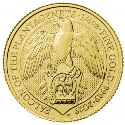 1/4 Oz Gold Queen's Beasts Coins
