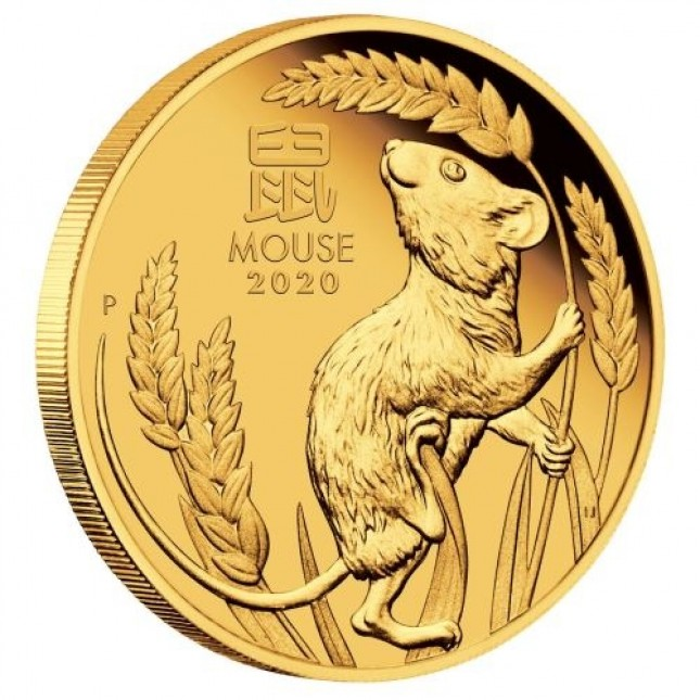 2020 Australia 1 oz Gold Lunar Mouse Coin (BU)