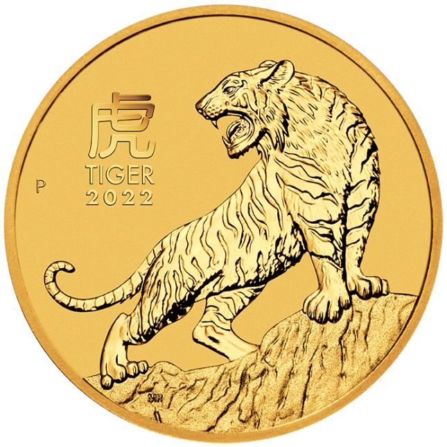 2022 Australia 1/4 oz Gold Lunar Tiger Coin (BU)