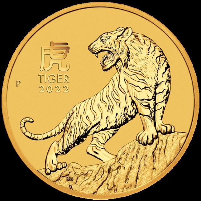 2022 Australia 1/2 oz Gold Lunar Tiger Coin (BU)