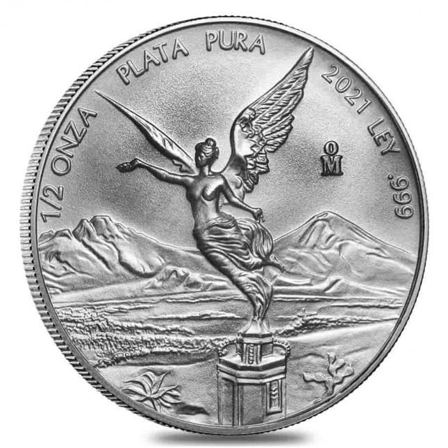2021 1/2 Oz Mexican Silver Libertad Coin (BU)
