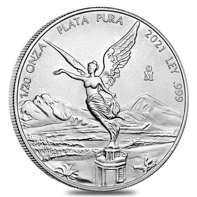 2021 1/20 Oz Mexican Silver Libertad Coin (BU)
