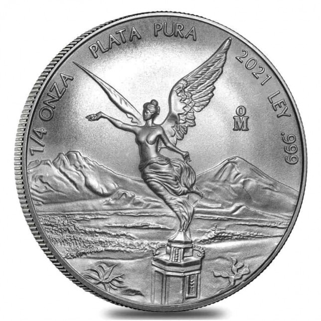 2021 1/4 Oz Mexican Silver Libertad Coin (BU)