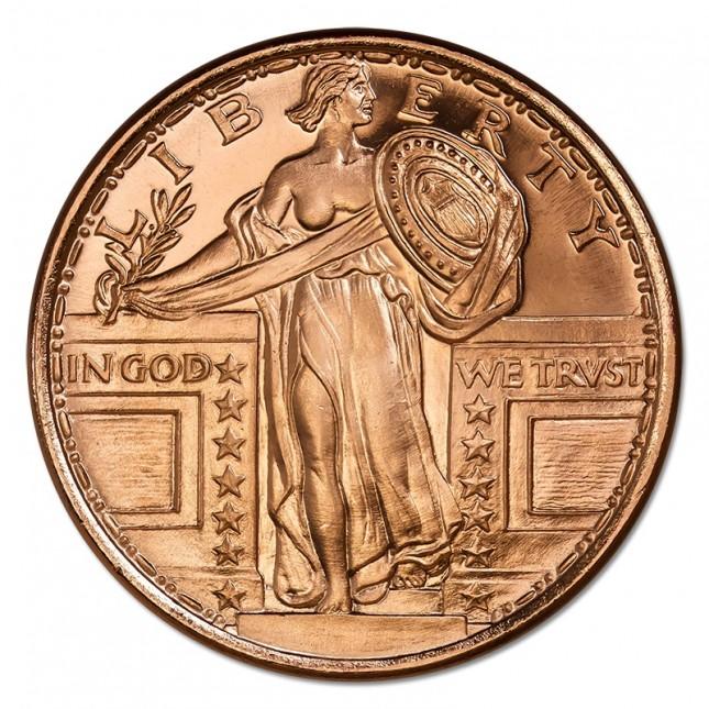 1 oz Copper Round | Standing Liberty (BU)