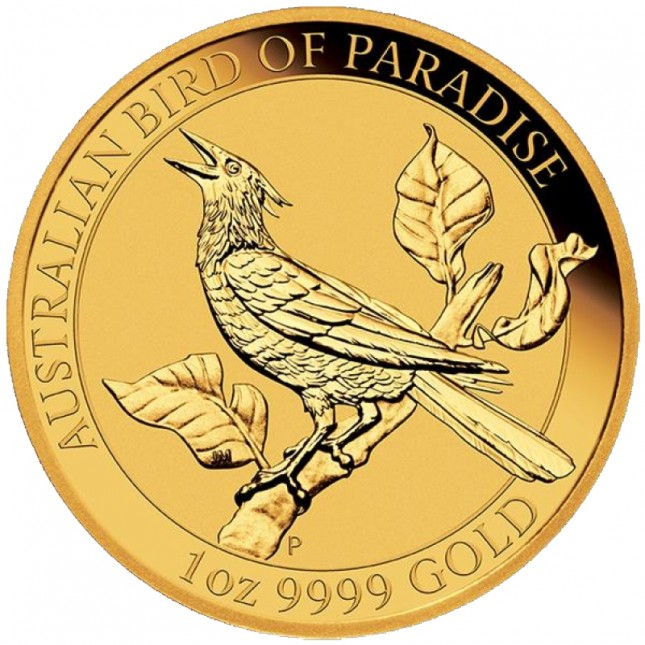 2019 Australia 1 oz Gold Bird of Paradise Manucodia (BU)