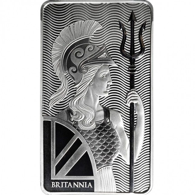 100 Oz Royal Mint Britannia Silver Bar
