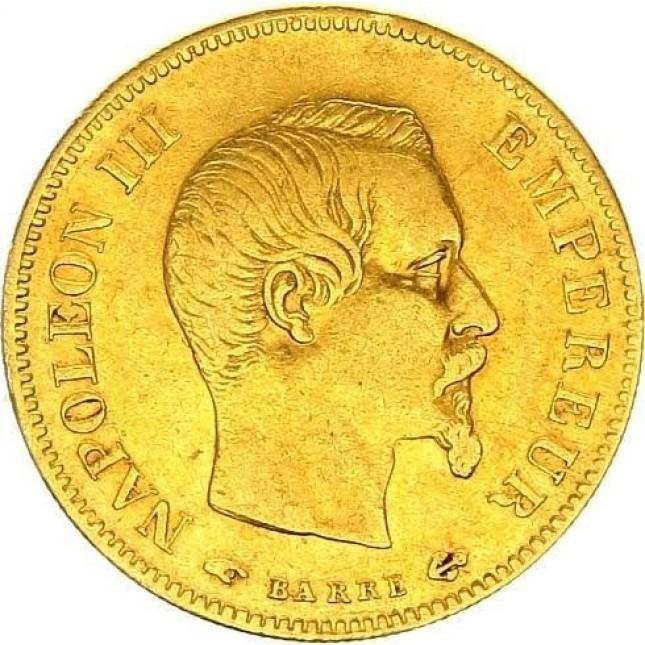 France Gold 10 Francs Napoleon III Avg Circ (Random Year)