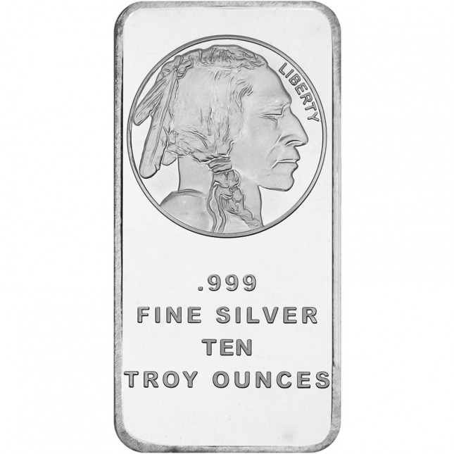 SilverTowne Buffalo | 10 Oz Silver Bar (New)