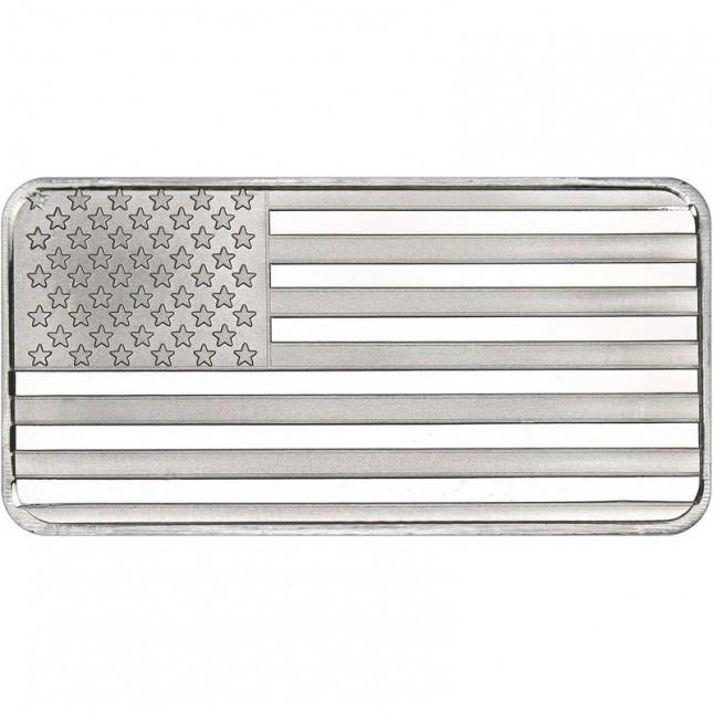 SilverTowne American Flag | 10 Oz Silver Bar