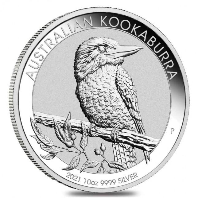 2021 Australia 10 Oz Silver Kookaburra (BU)