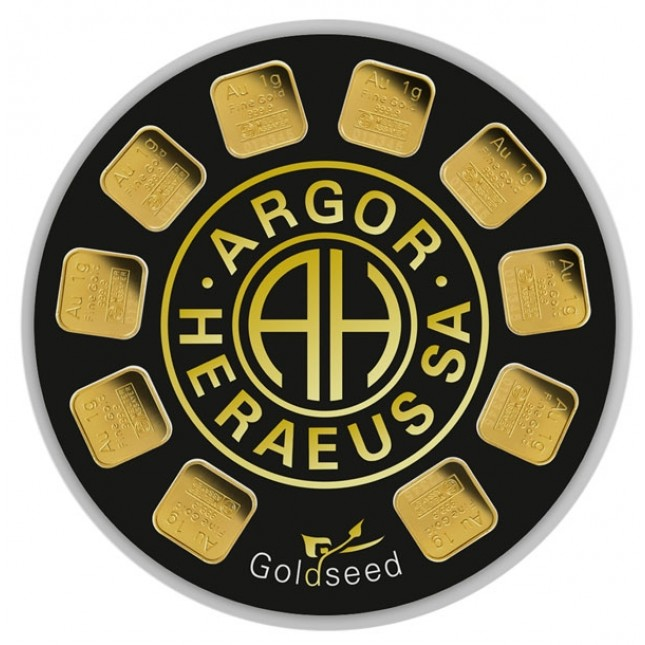 Goldseed Argor-Heraeus 10 x 1 Gram Gold Bar (In Assay)