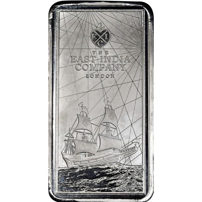 2021 10 oz St. Helena Rectangular Silver East India Company Coin (BU)
