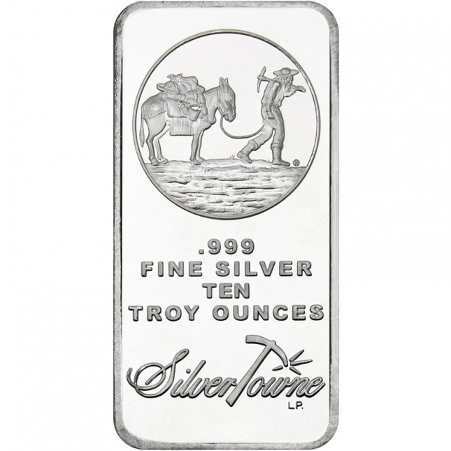 SilverTowne Prospector | 10 Oz Silver Bar