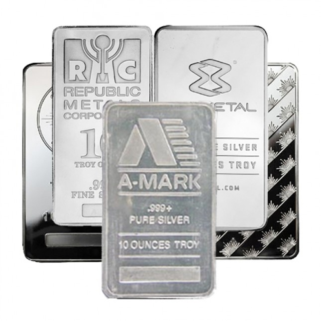 10 Oz Silver Bar - Secondary Market (.999+ Fine)