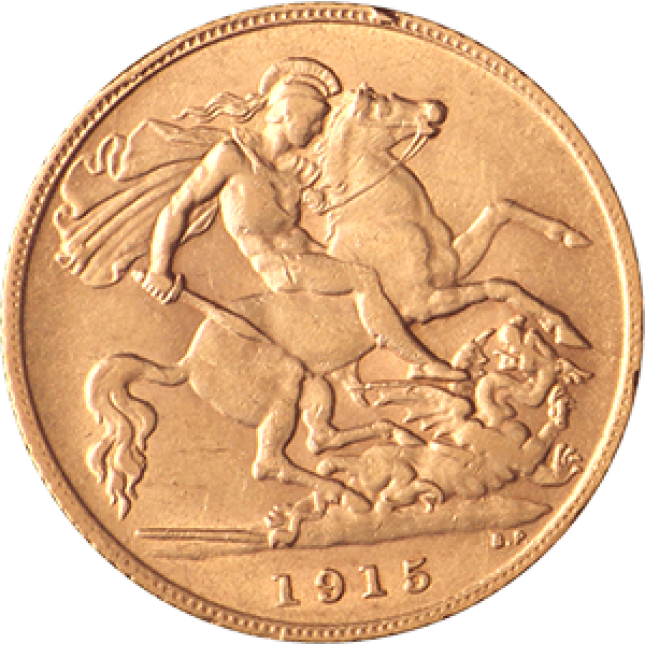 Great Britain Gold 1/2 Sovereign 1871-2014 Avg Circ