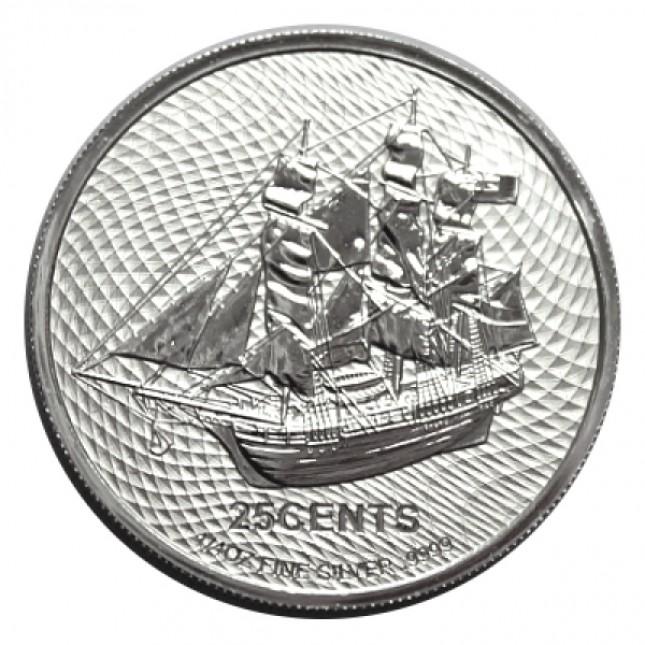 2021 Cook Islands 1/4 Oz Silver HMS Bounty Coin (BU)