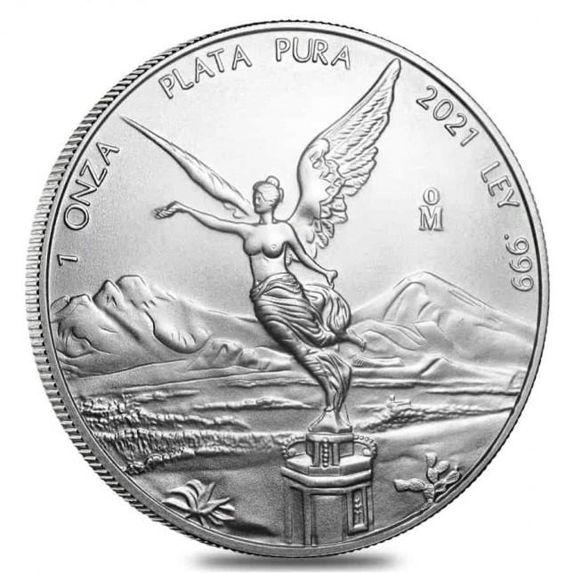 2021 1 Oz Mexican Silver Libertad Coin (BU)