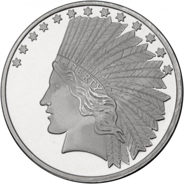 SilverTowne $10 Indian Replica | 1 Oz Silver Medallion