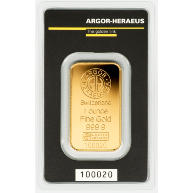 1 oz Argor-Heraeus Gold Bar (In Assay)