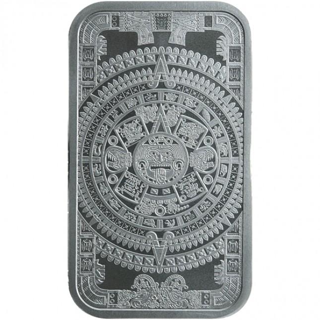 1 oz Silver Bar | Aztec Calendar