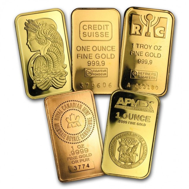 Secondary Market 1 oz Gold Bar (Out of Plastic)