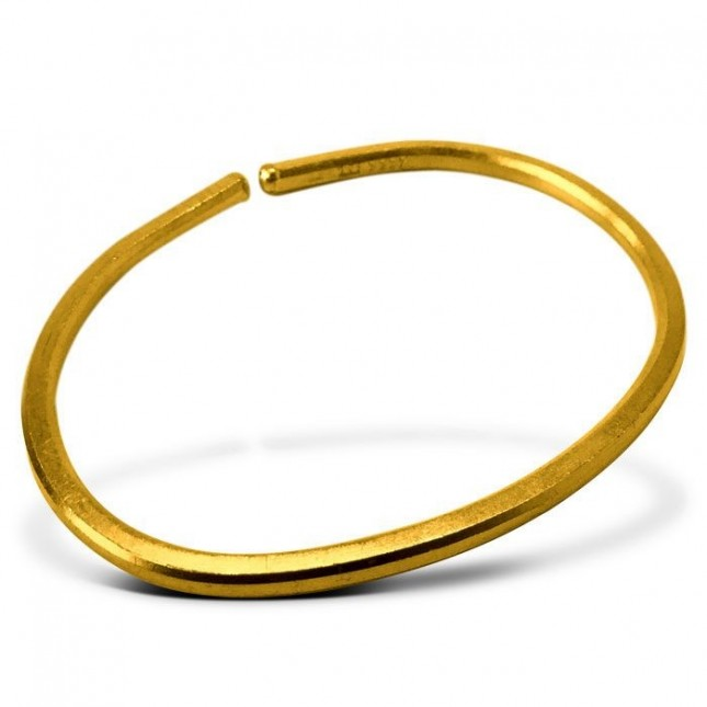 24K 1 Oz Gold Smooth Bullion Bracelet (New in OGP) | Wearable Wealth Series