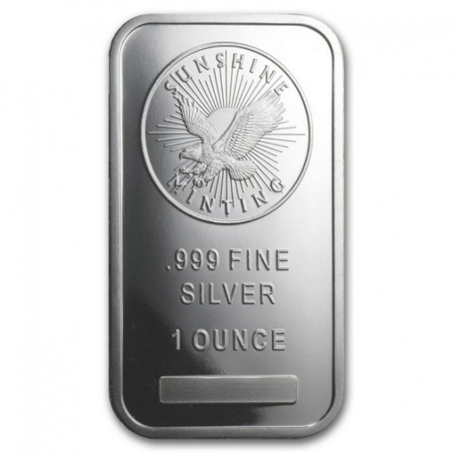 Sunshine Minting (SMI) 1 Oz Silver Bar