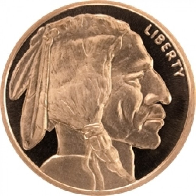5 oz Copper Round | Buffalo Nickel (BU)