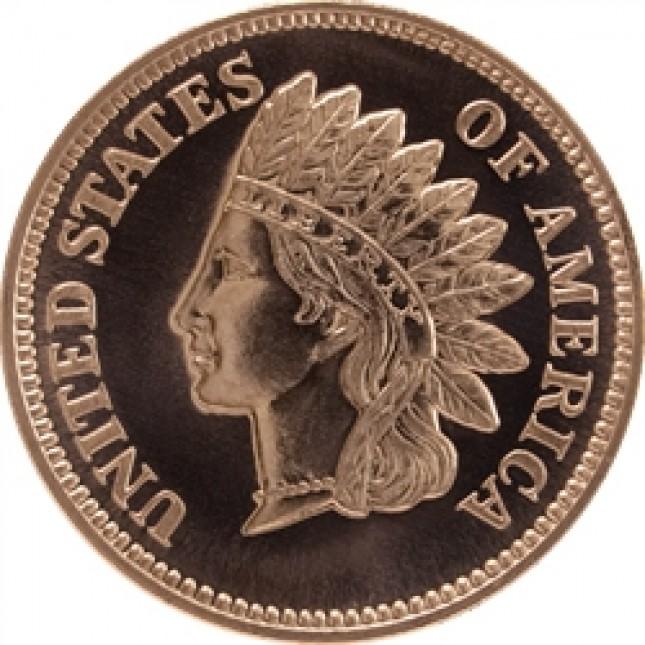 1 oz Copper Round | Indian Penny (BU)