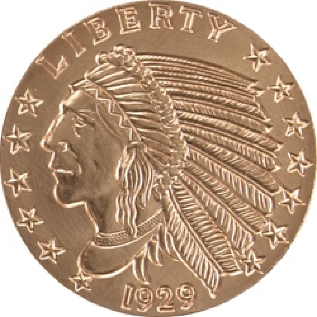 1 oz Copper Round | Incuse Indian (BU)