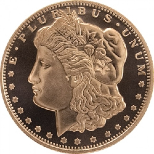 1 oz Copper Round | Morgan Dollar (BU)