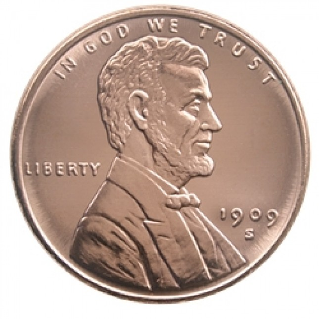1 oz Copper Round | Lincoln Wheat Cent (BU)
