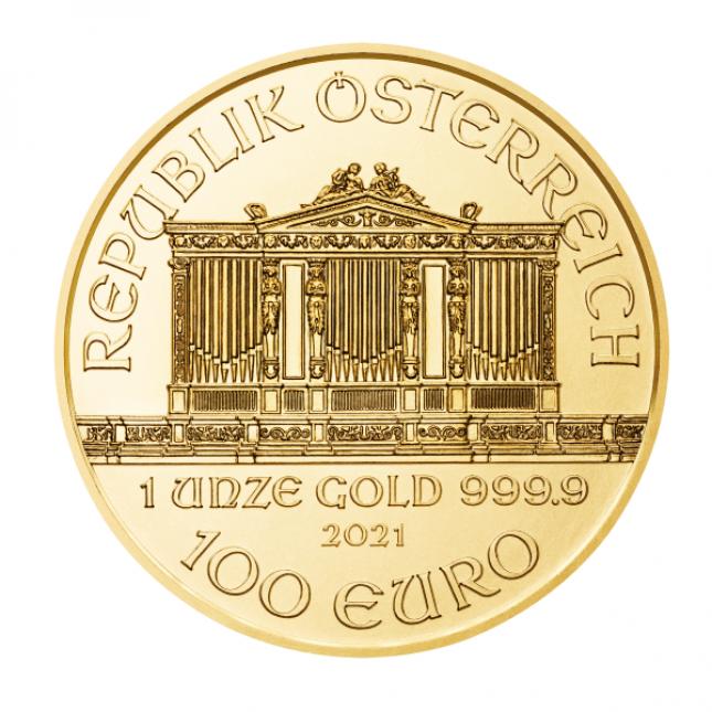 2021 Austria 1 Oz Gold Philharmonic (BU)