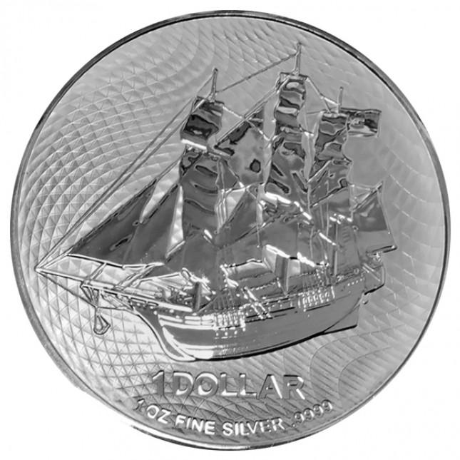 2022 Cook Islands 1 Oz Silver HMS Bounty Coin (BU)