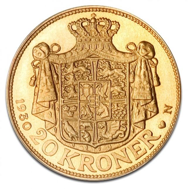 Denmark Gold 20 Kroner Avg Circ (Random Date)