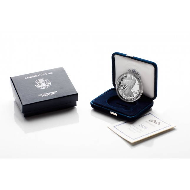 2010-W American Proof Silver Eagle Coin (In OGP)