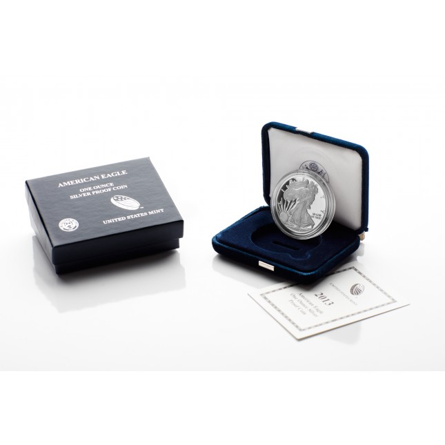 2013-W American Proof Silver Eagle Coin (In OGP)